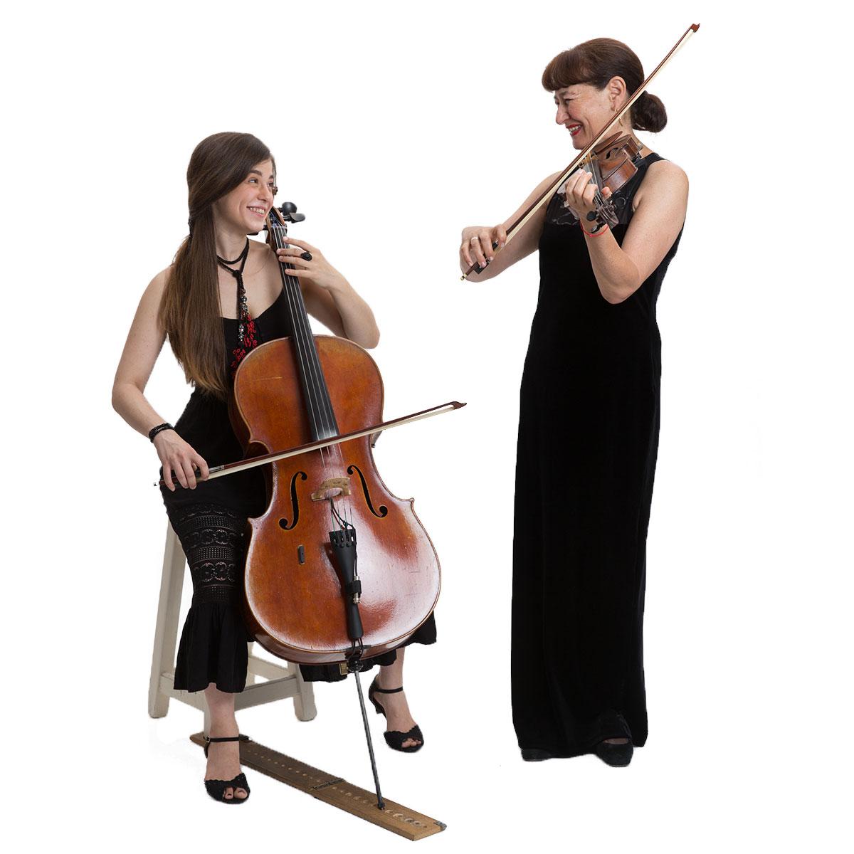 לודמילה גולד (כינור) ואלכסנדרה מרקו (צ'לו)